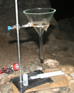 DGT deployed under a drip point in Heshang Cave