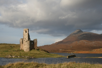 Ardvreck Castle. 15th Century seat of the MacLeods of Assynt.