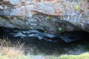 Cave of the roaring, entrance. To access the cave the stream must be forged.