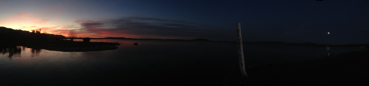Sunset over Lake Rotorua