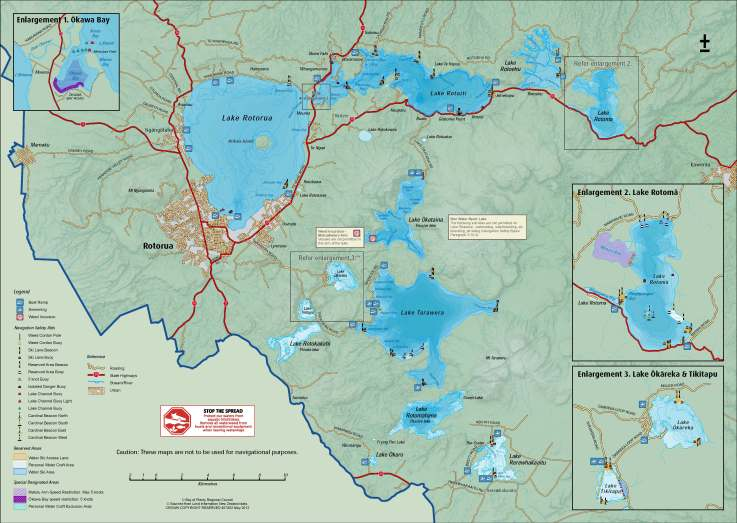 Lakes of the Rotorua area